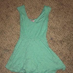 Plain mint green dress
